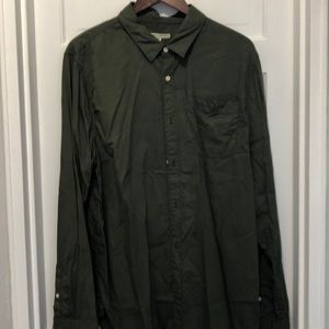 Men's Olive green button up